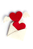 Love heart on the white background Royalty Free Stock Image
