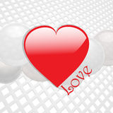 Love heart on white thecno background Royalty Free Stock Photos