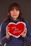 Love Heart Woman stock image