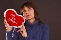 Love Heart Woman Stock Photo
