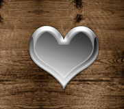 Love heart on wood Royalty Free Stock Image