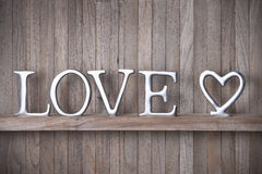 Love Heart Wood Background Royalty Free Stock Photography