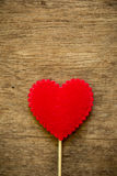 Love heart on woode background. Love heart on wooden texture background, valentines day Royalty Free Stock Image