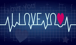 Love Heartbeat Background royalty free stock photos