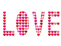 Love with hearts Stock Images