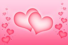 Love hearts. Illustration for Valentine's day Royalty Free Stock Photos