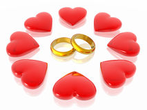 Love and hearts. Love which has united our hearts (see more in my portfolio Royalty Free Stock Images