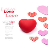 Love and hearts Stock Photography