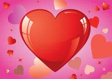 Love Hearts. Valentine day red Love Hearts Royalty Free Stock Photo
