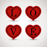 Love in hearts Royalty Free Stock Photography