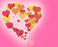 Love Hearts 3. Illustration of several hearts forming colorful patterns Royalty Free Stock Image