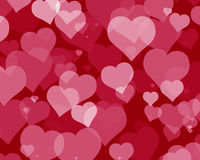 Love Hearts 4. Illustration of several hearts forming colorful patterns Royalty Free Stock Photos