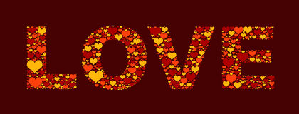 Love from hearts Stock Photo