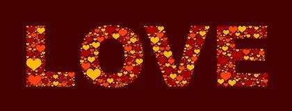 Love from hearts. Love from many hearts illustration Stock Photo