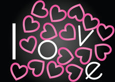 Love with hearts Royalty Free Stock Images