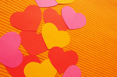 Love hearts abstract background Stock Image