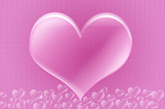 Love hearts against valentines heart design Royalty Free Stock Images