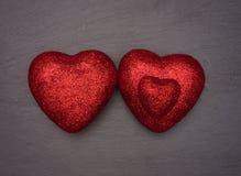 Love Hearts Arranged Like a Family Group Stock Photography