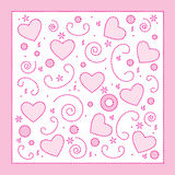 Love hearts background Stock Photo