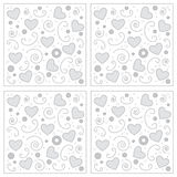 Love hearts background. Valentine image stock illustration