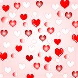 Love hearts background border design Stock Images