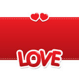 Love hearts on background Stock Photos