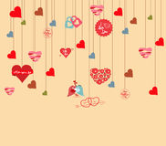 Love hearts background Royalty Free Stock Images