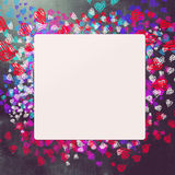 Love and hearts background Stock Image