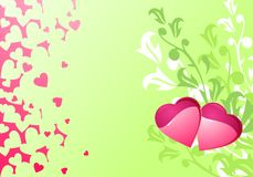 Love hearts and background / wedding Stock Images