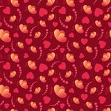 Love hearts and butterflies Valentine`s Day seamless pattern vector illustration