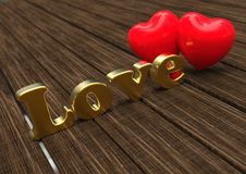 Love with hearts concept Royalty Free Stock Image