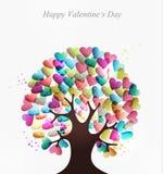 Love hearts concept tree Royalty Free Stock Photography