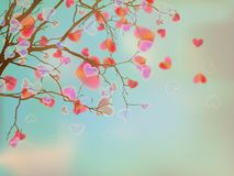 Love hearts concept tree . EPS 10 Royalty Free Stock Image