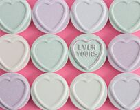 Free Love Hearts Concept With The Words Ever Yous Standing Out Amongst Other Sweets And Candy Stock Images - 181401654