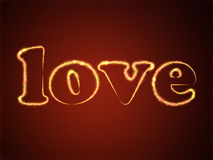 Love from hearts Stock Photography