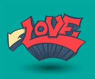 Love with hearts drawn. For love concept wedding and valentine. Vector illustration Royalty Free Stock Photo