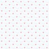 Love hearts drawn. Postcard Valentine's Day. Love. A heart. Valentine's Day Stock Images