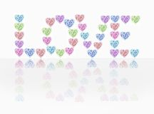 Love Hearts And Flowers Stock Photos