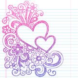 Hearts Valentine's Day Sketchy Doodle Vector Illustration Stock Photo