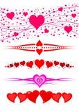 Love hearts frame border divider royalty free stock photos