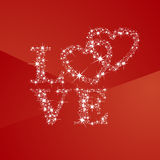 Love hearts full of stars red background. Valentines Day vector Stock Images