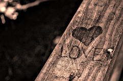 Love, Hearts and Handrails Stock Images