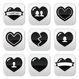 Love,hearts icons set for Valentine's Day Stock Photo