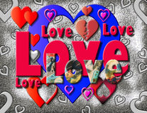 Love and Hearts Stock Photo
