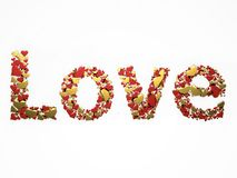 Love with hearts.jpg Royalty Free Stock Photography