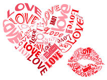 LOVE/Hearts and Kisses Royalty Free Stock Images