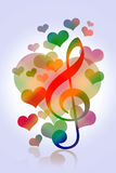 Love hearts music Stock Photos