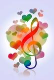 Love hearts music Stock Photos