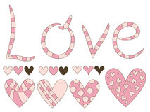 Love and hearts Royalty Free Stock Images