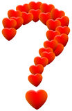 Love Hearts Question Mark Stock Photography